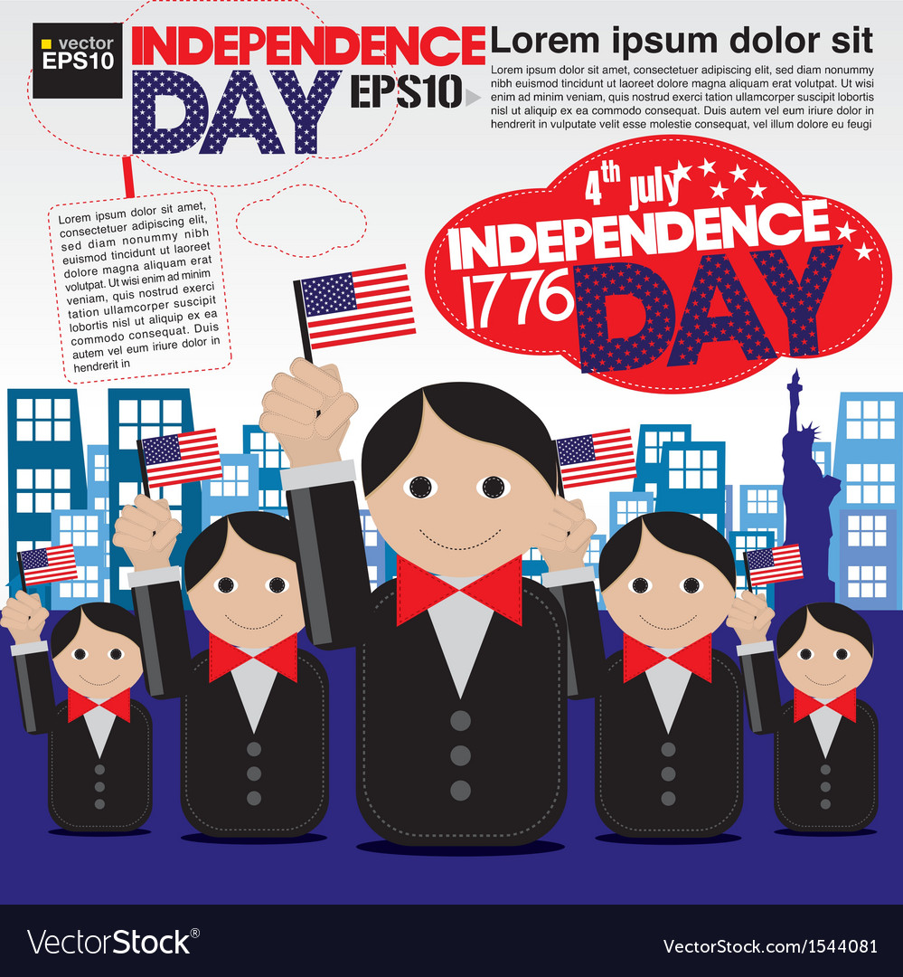 Independence day celebration concept eps10 vector
