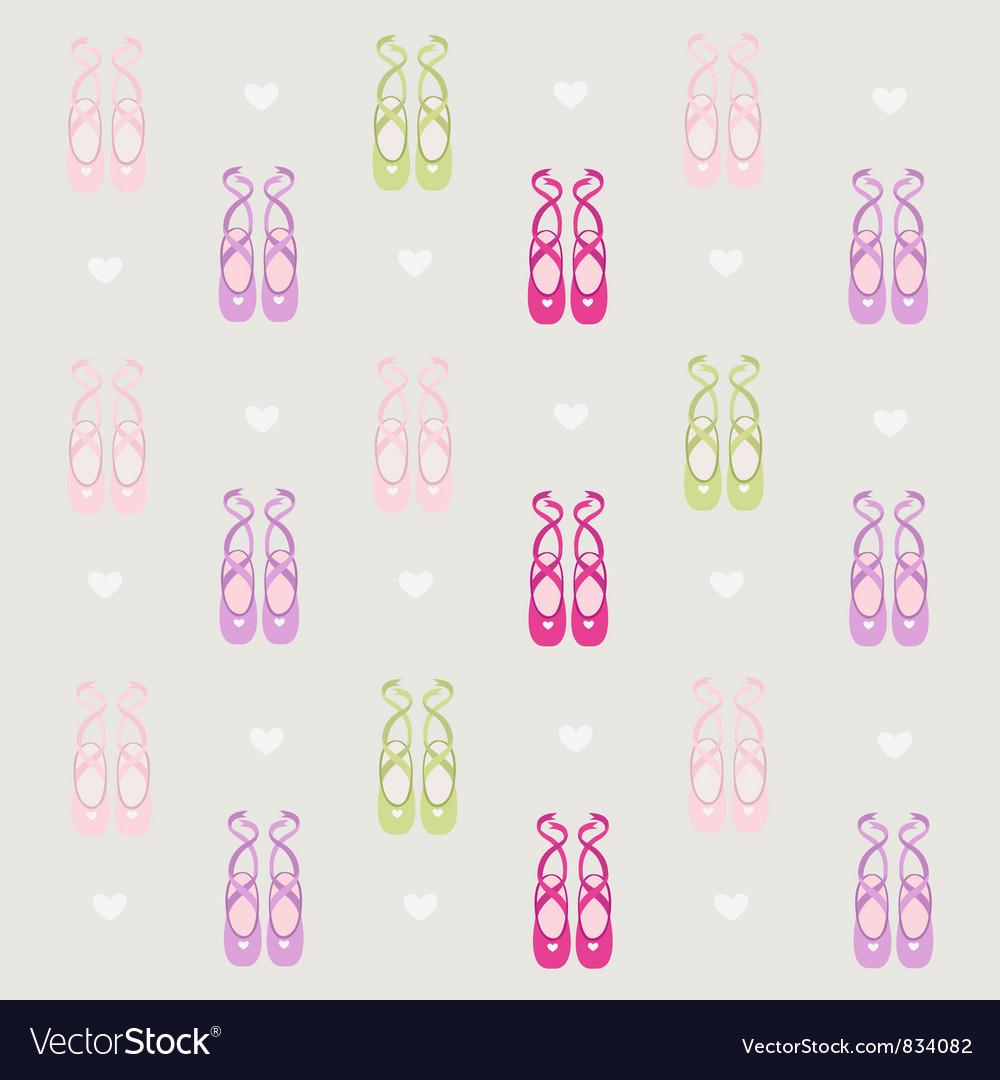 Ballerina shoes background vector