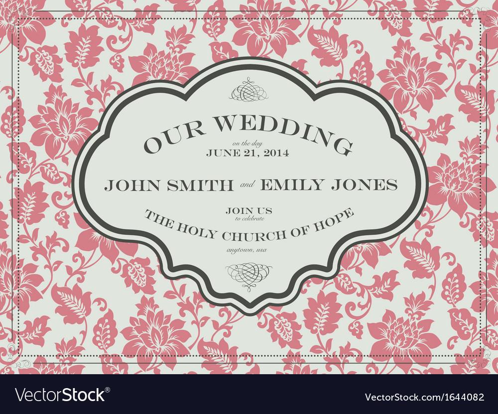 Flower wedding frame vector