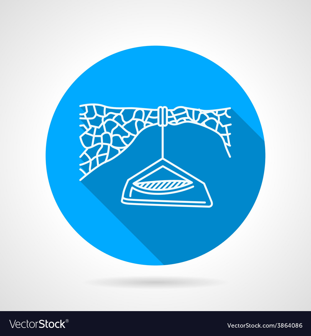 Flat icon for hanging camp vector