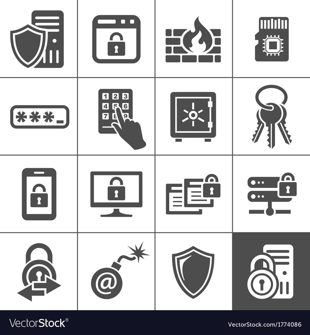 It security icons simplus series vector