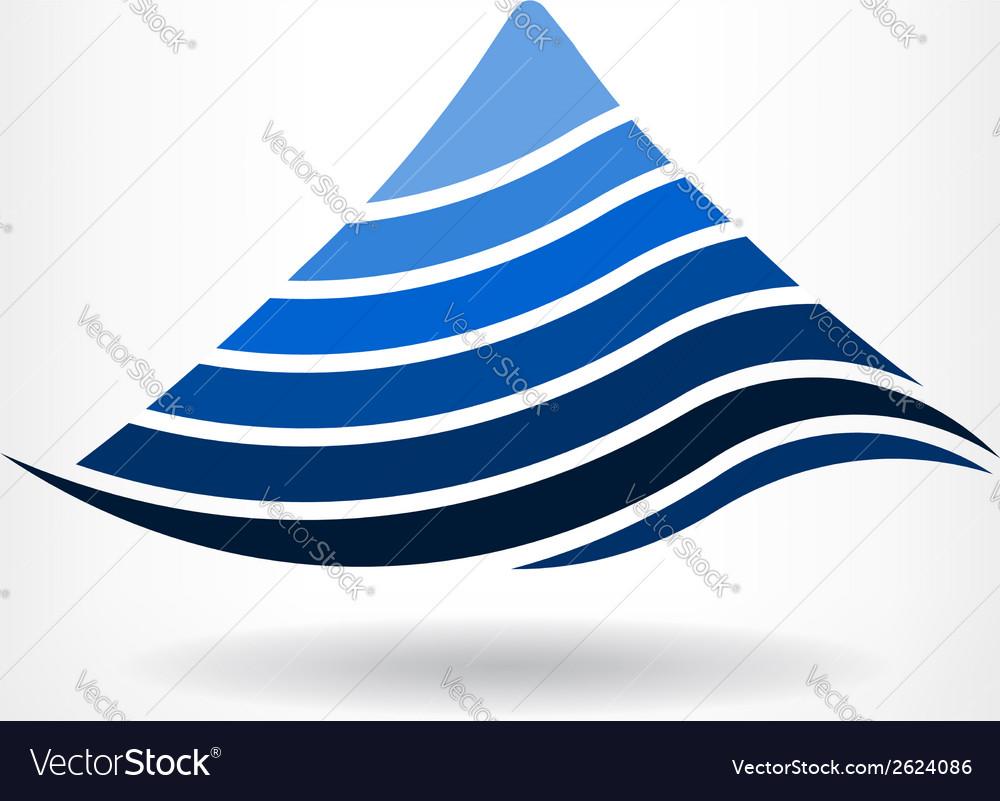 Mountain in layers logo vector