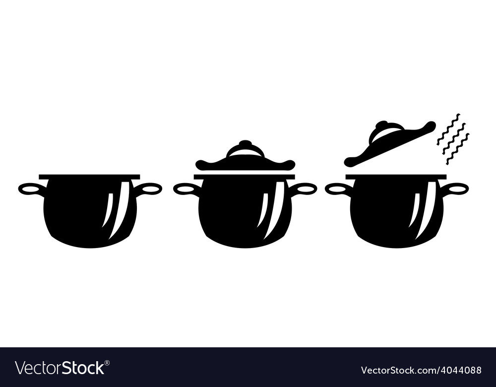 Picture of three pots vector