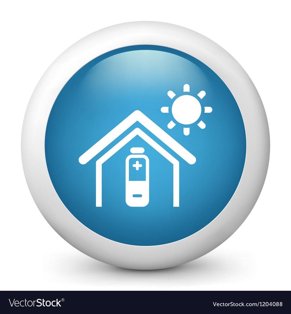 Temperature control glossy icon vector