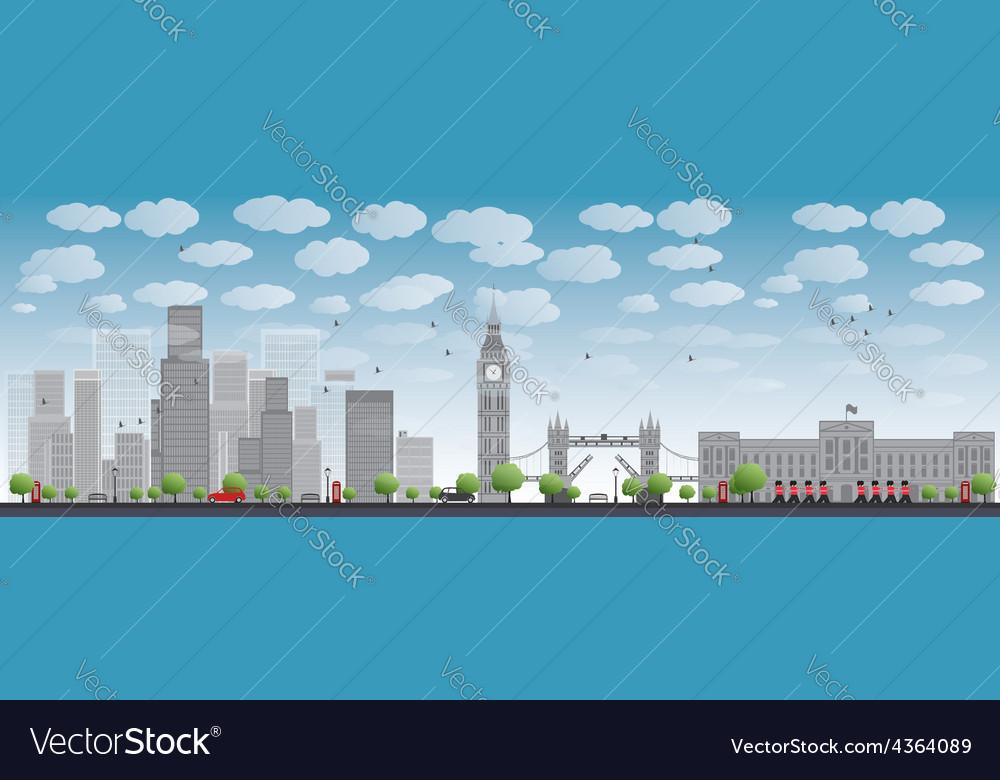 London skyline with skyscrapers vector