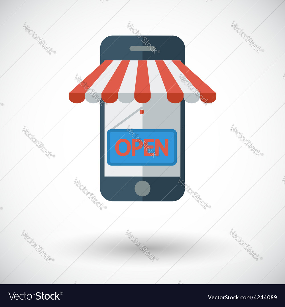 Mobile store vector