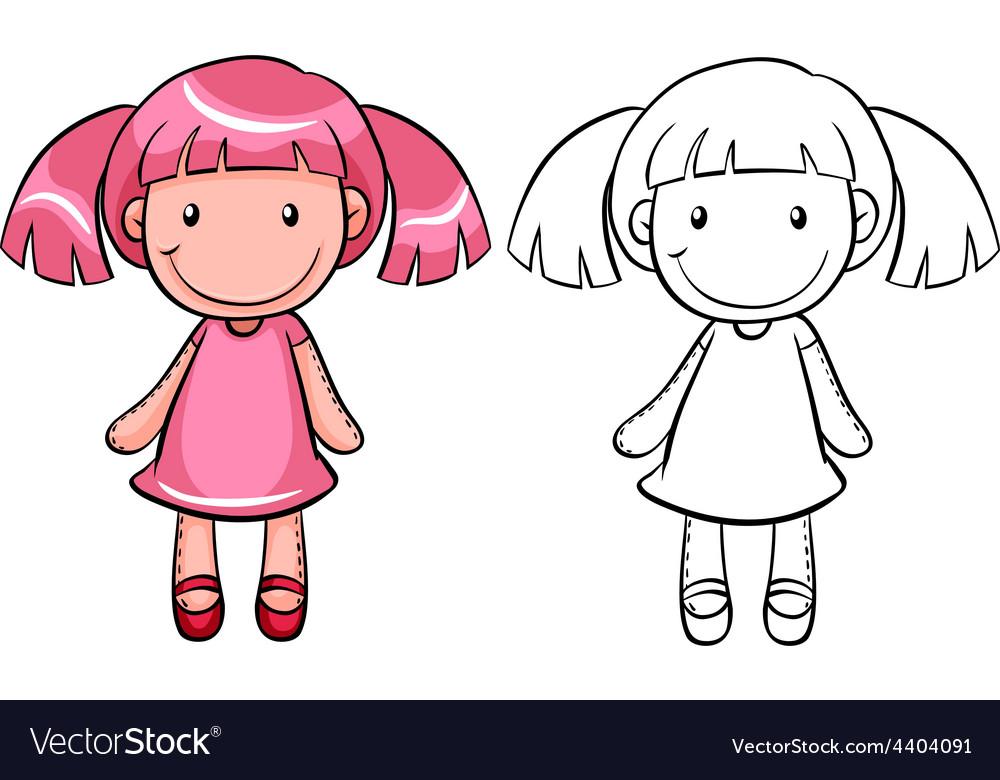 Girl doll vector