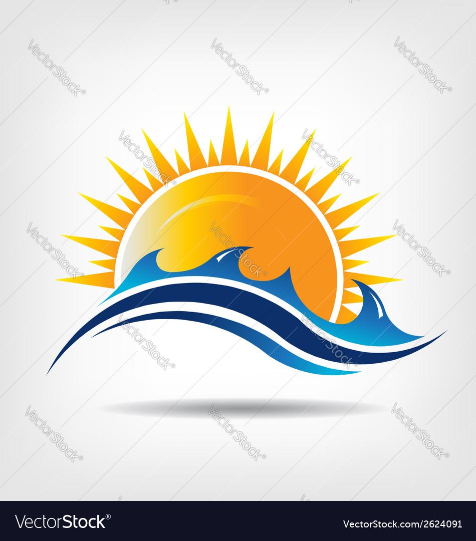 Sea and sun season vector