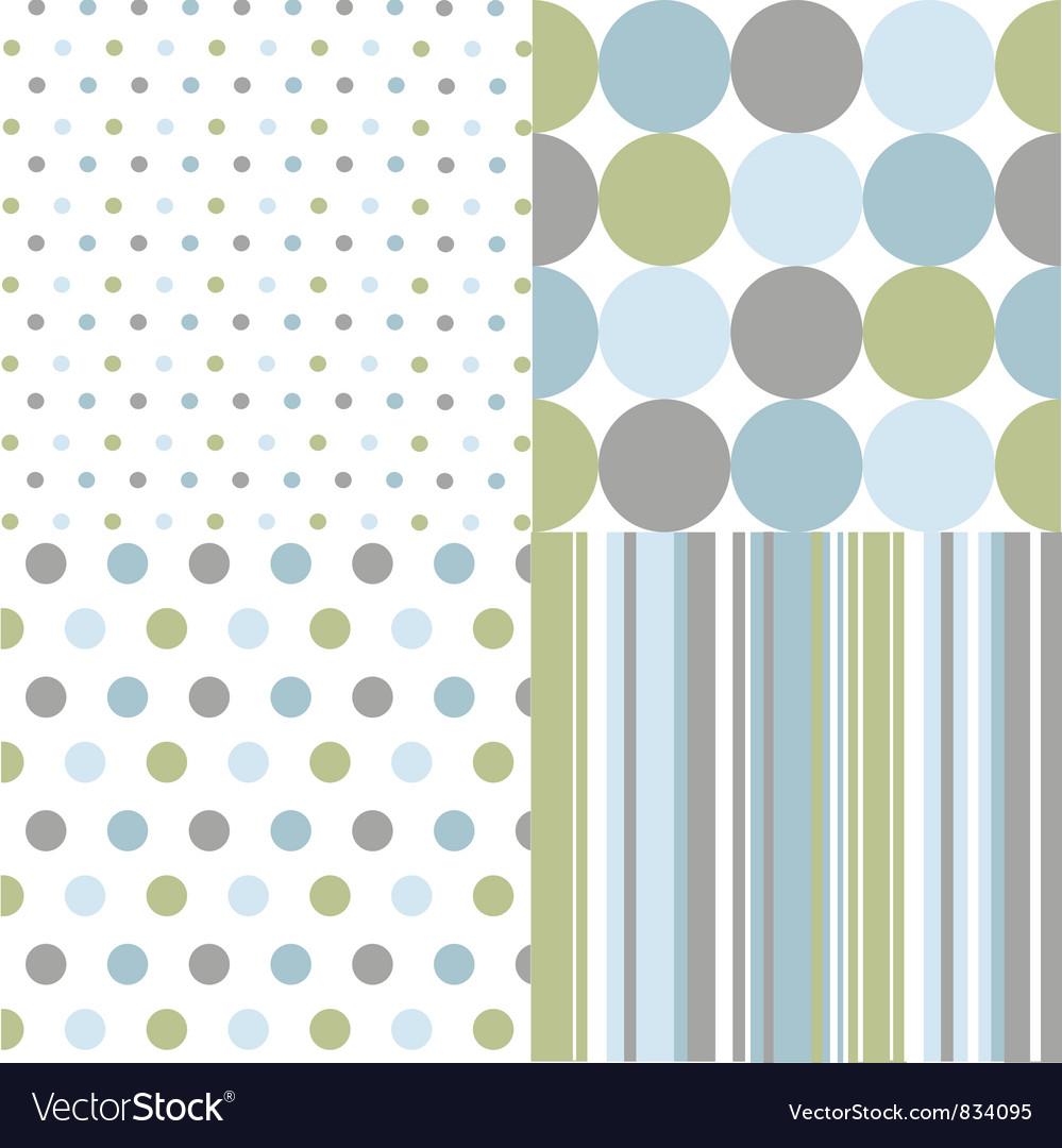 Seamless patterns polka dots vector
