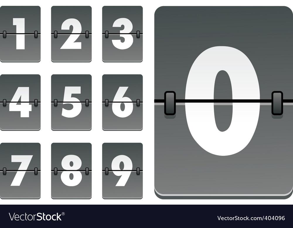 Analog clock numbers vector