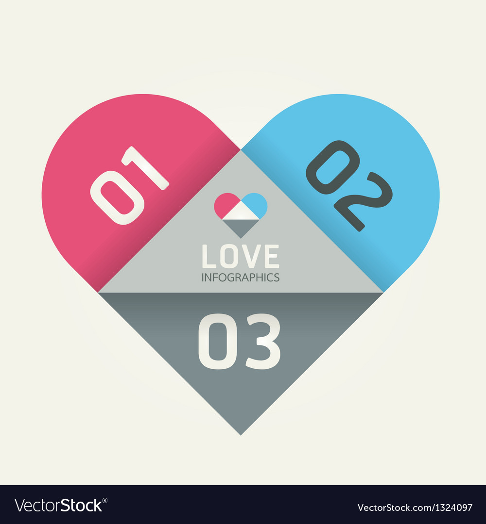 Modern design abstract heart template can be used vector