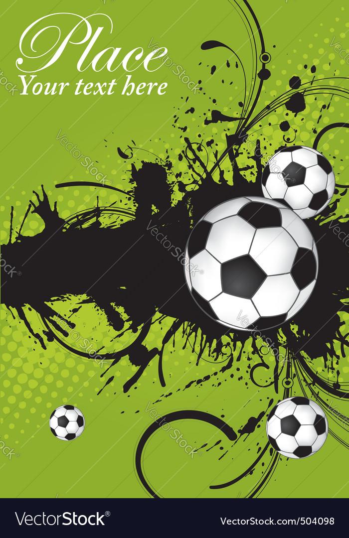 Soccer ball theme vector