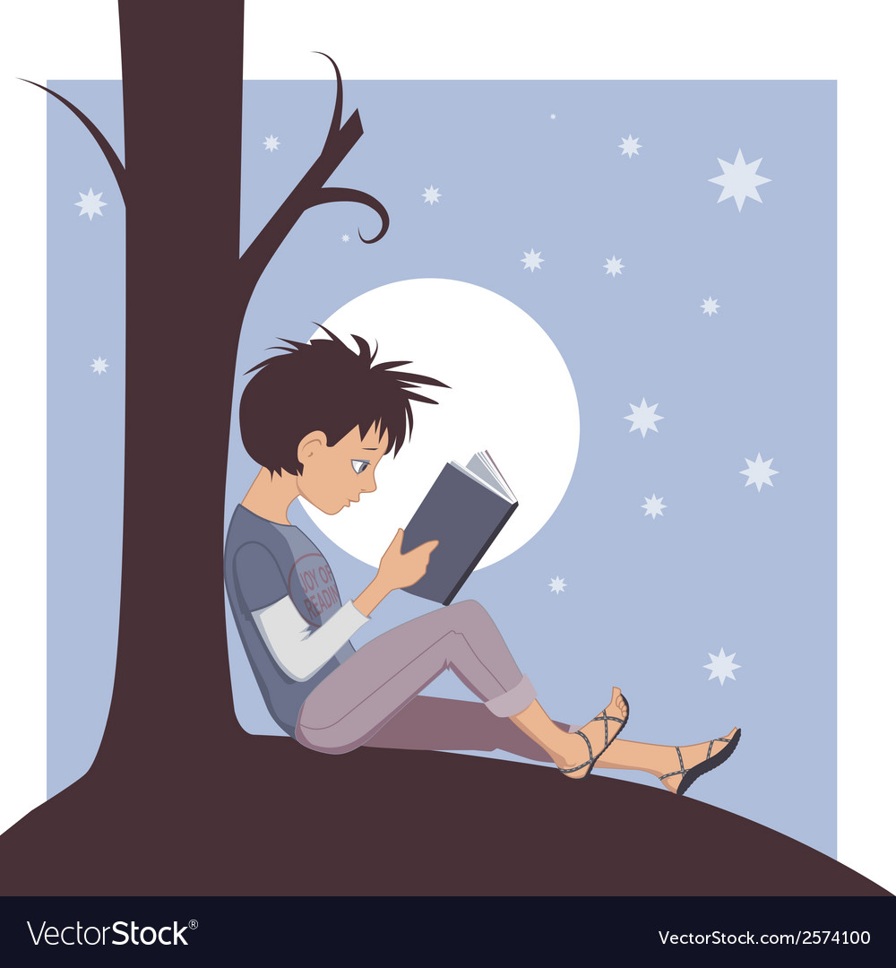 Joy of reading vector
