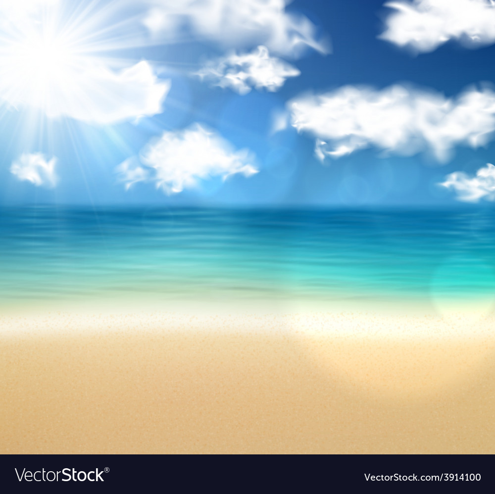 Tropical sunny summer coast vector