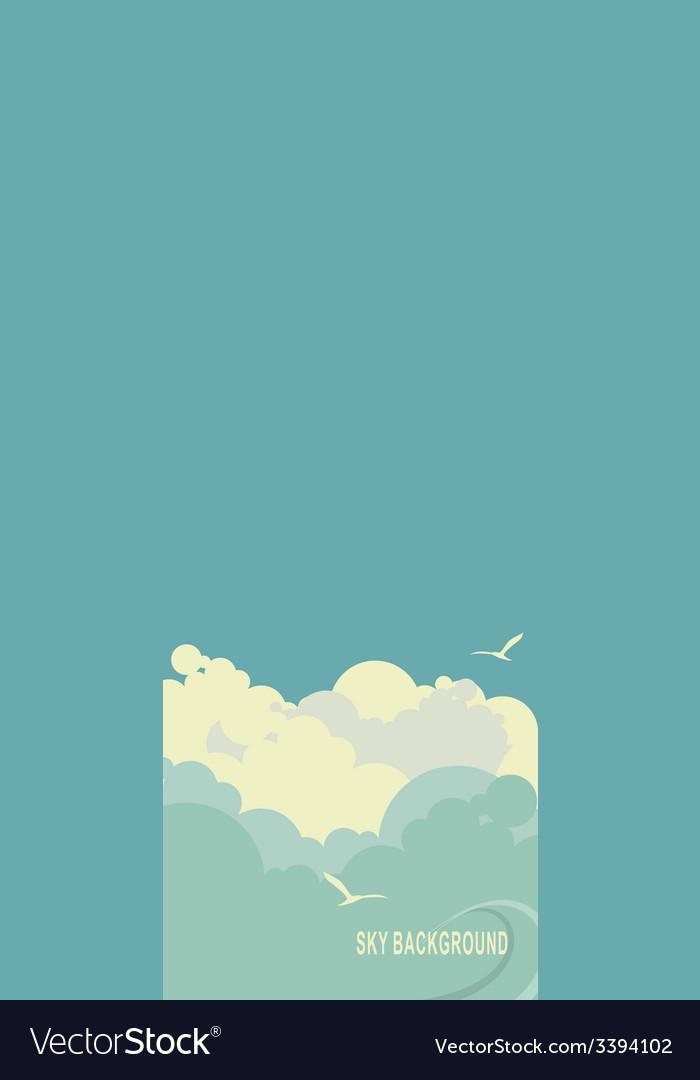 Empty sky surface vector