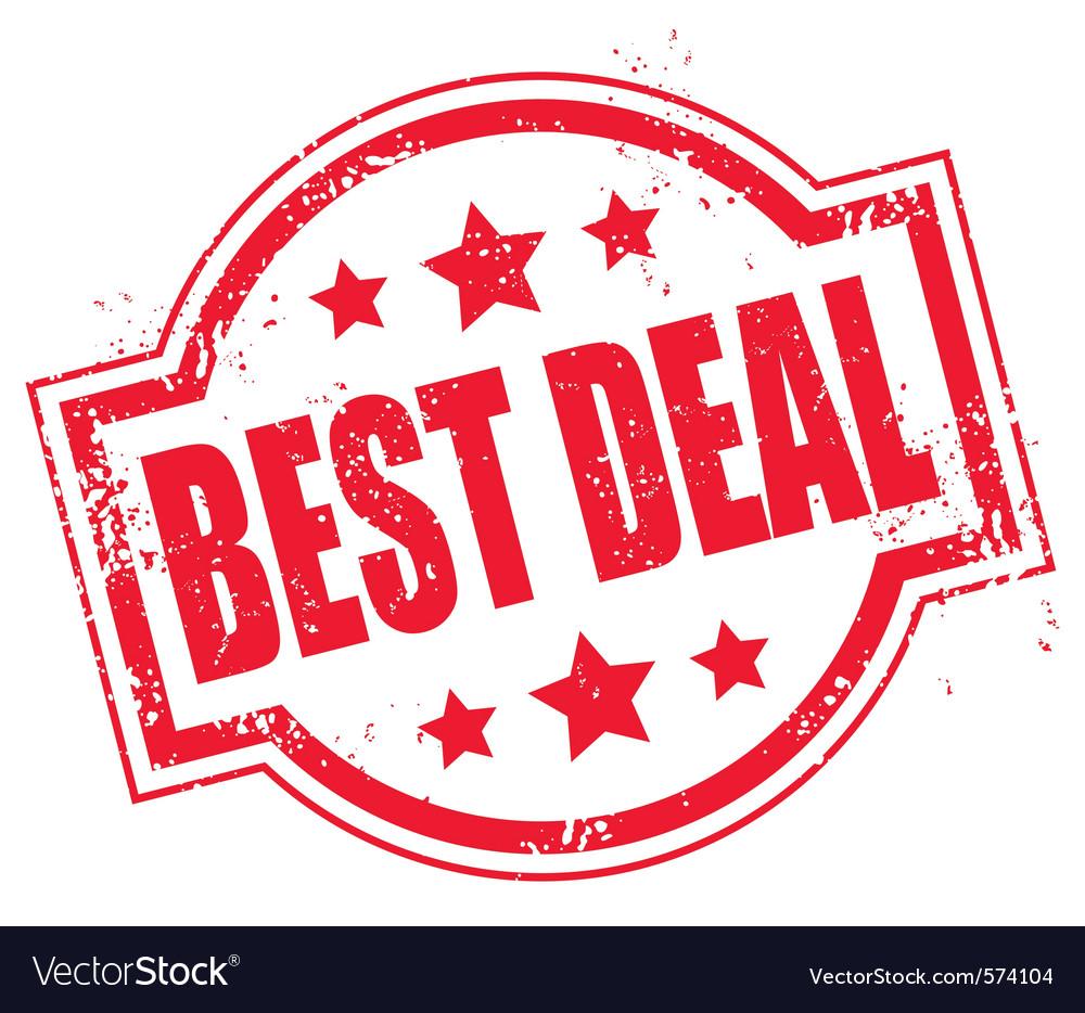 Grunge best deal symbol vector