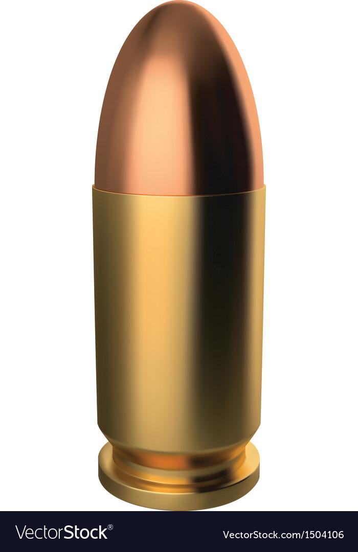 9 mm bullet vector