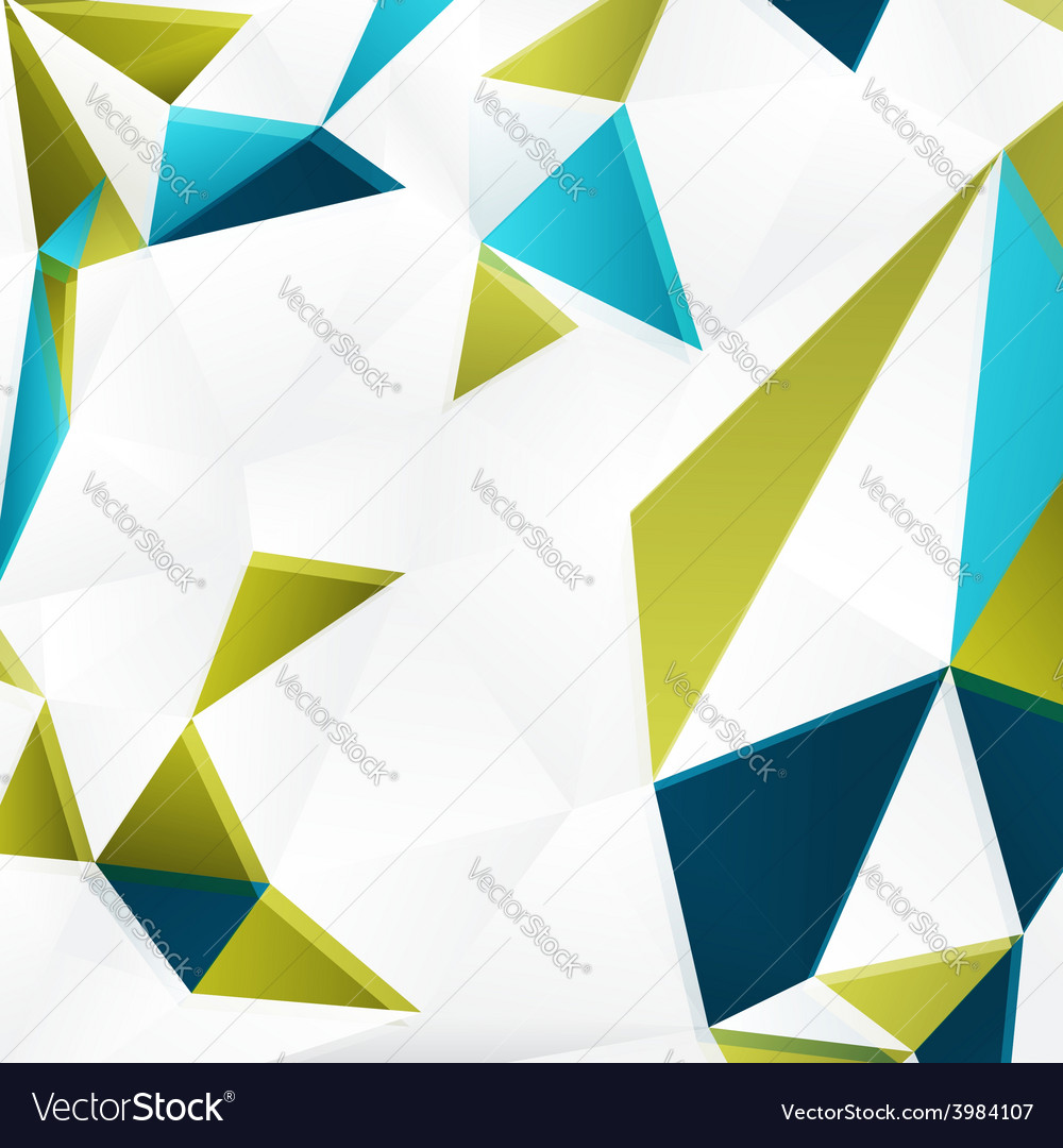 Background with color triangles vector