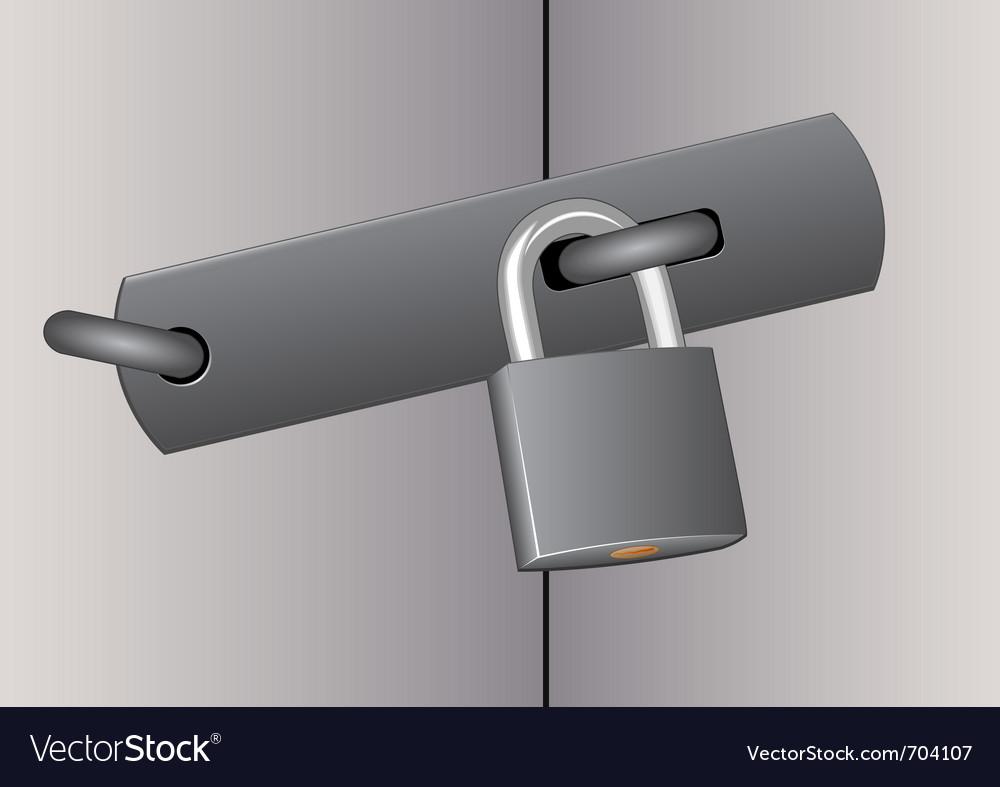 Padlock vector