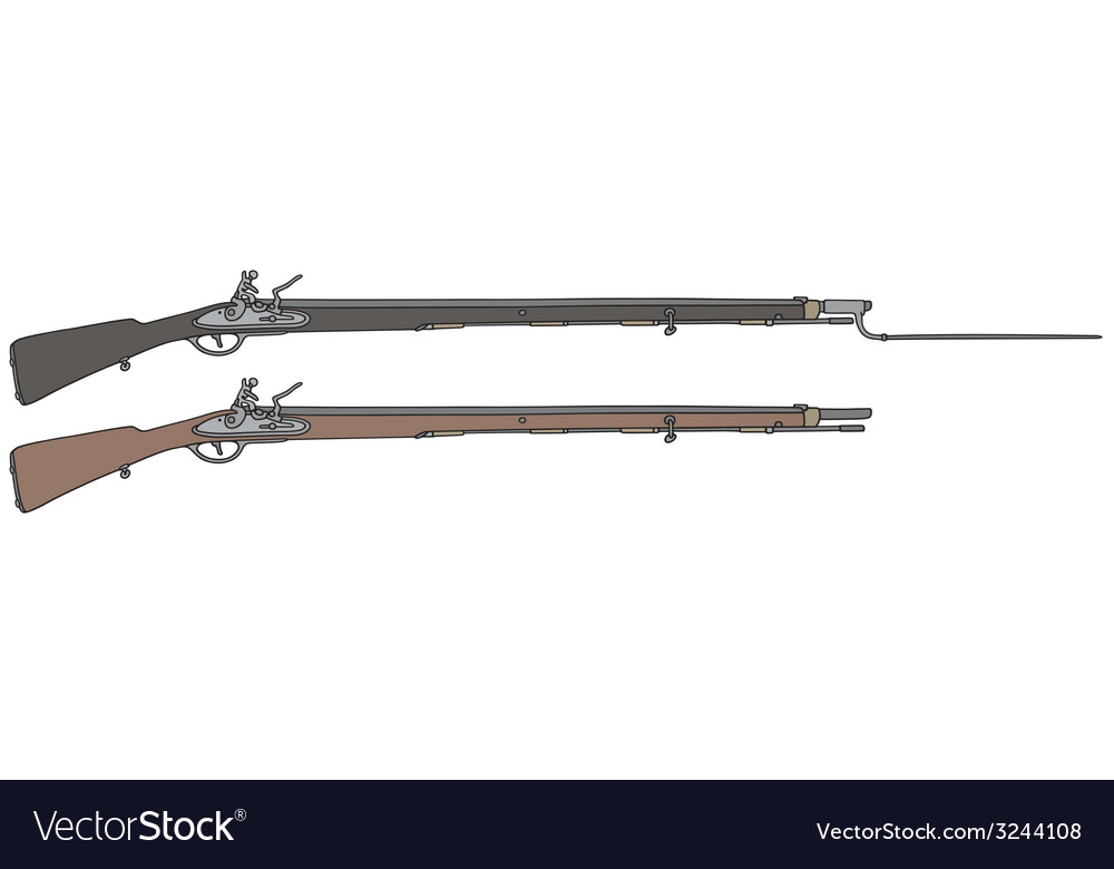Vintage rifle vector