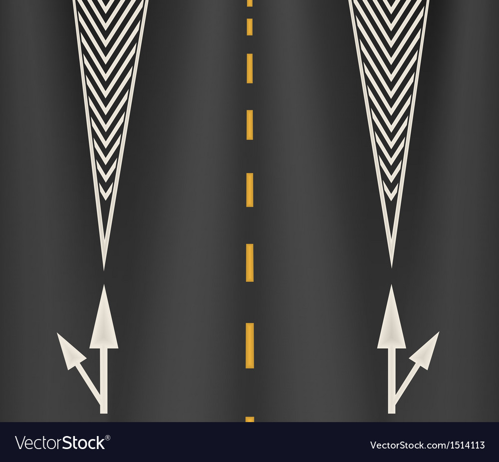 The arrows on the lane vector