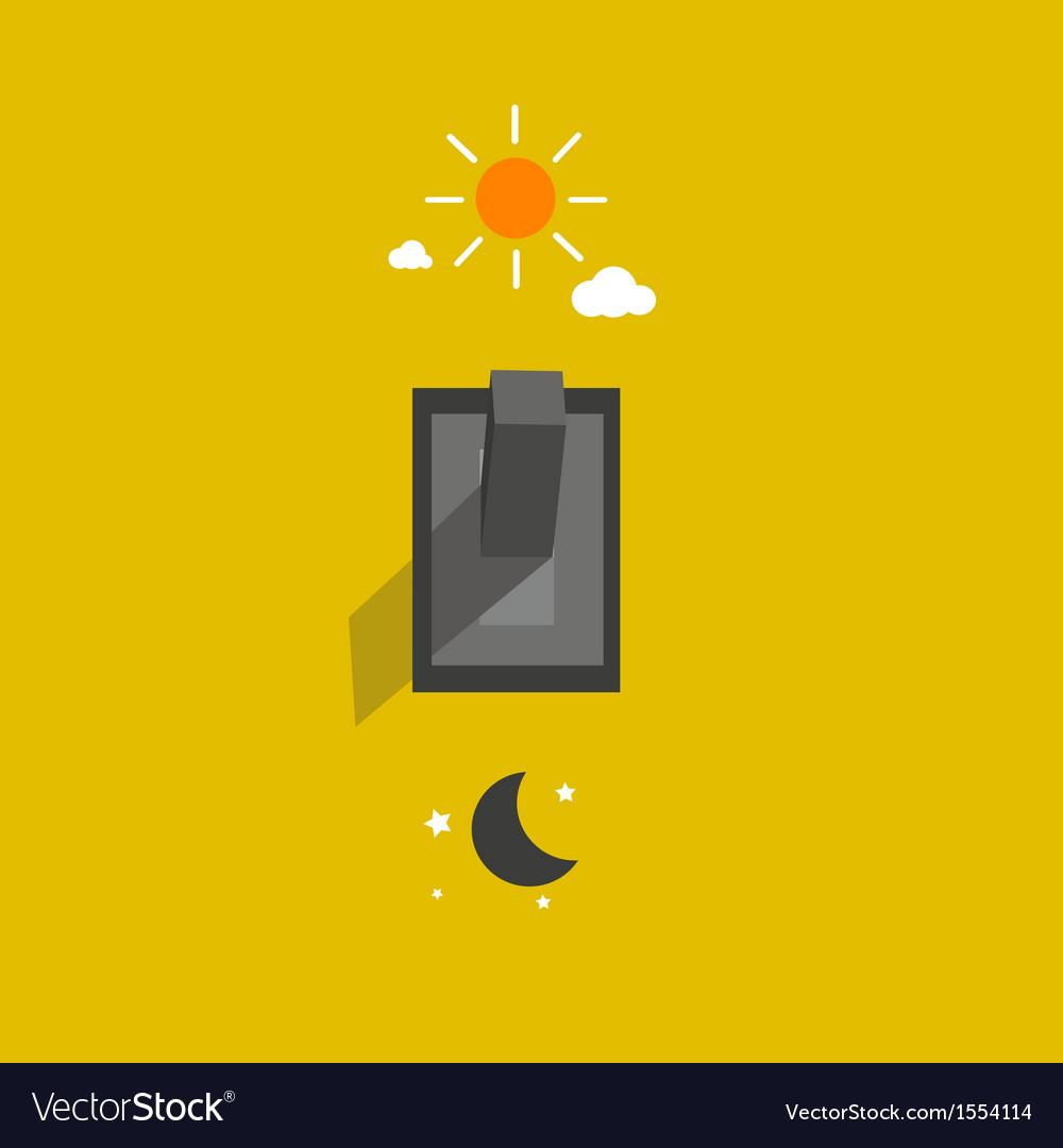 Switch lighting day and night vector