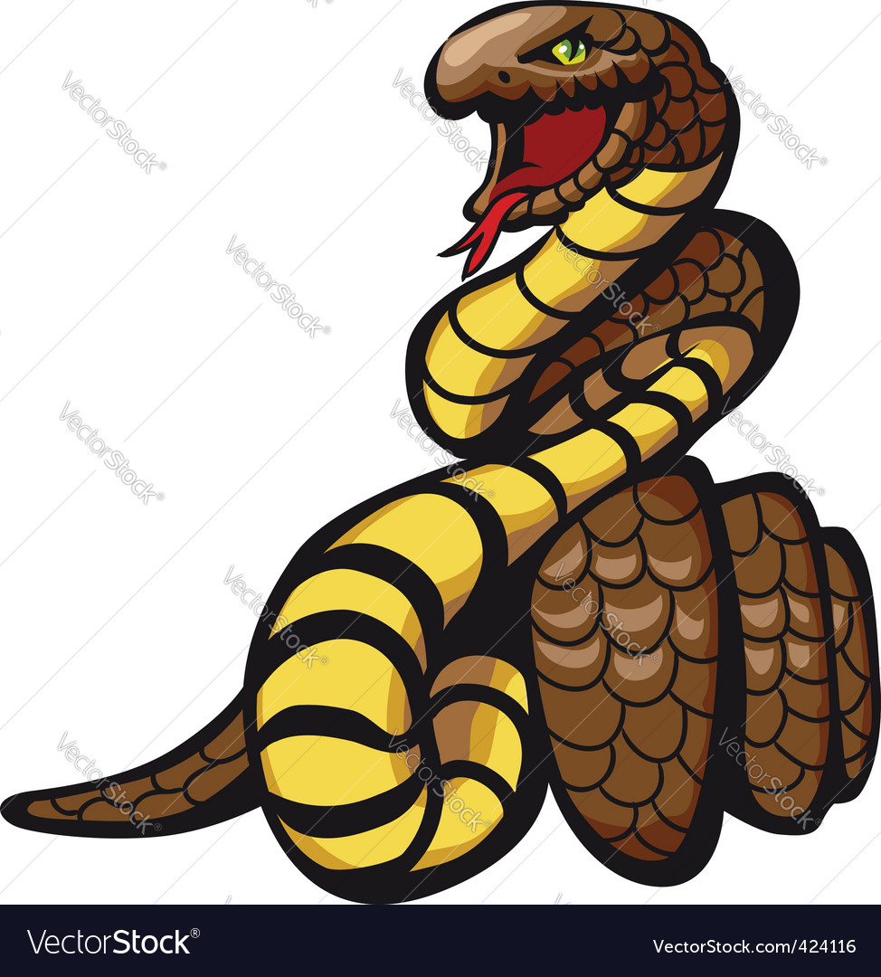 Danger snake vector