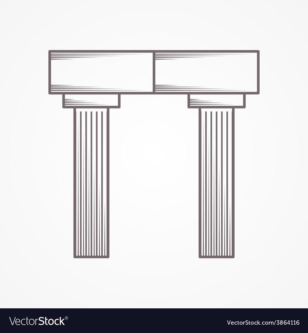 Icon for column arch vector