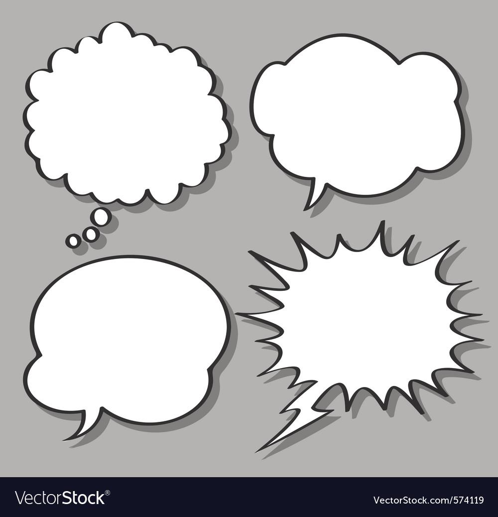 Comical bubble speech vector