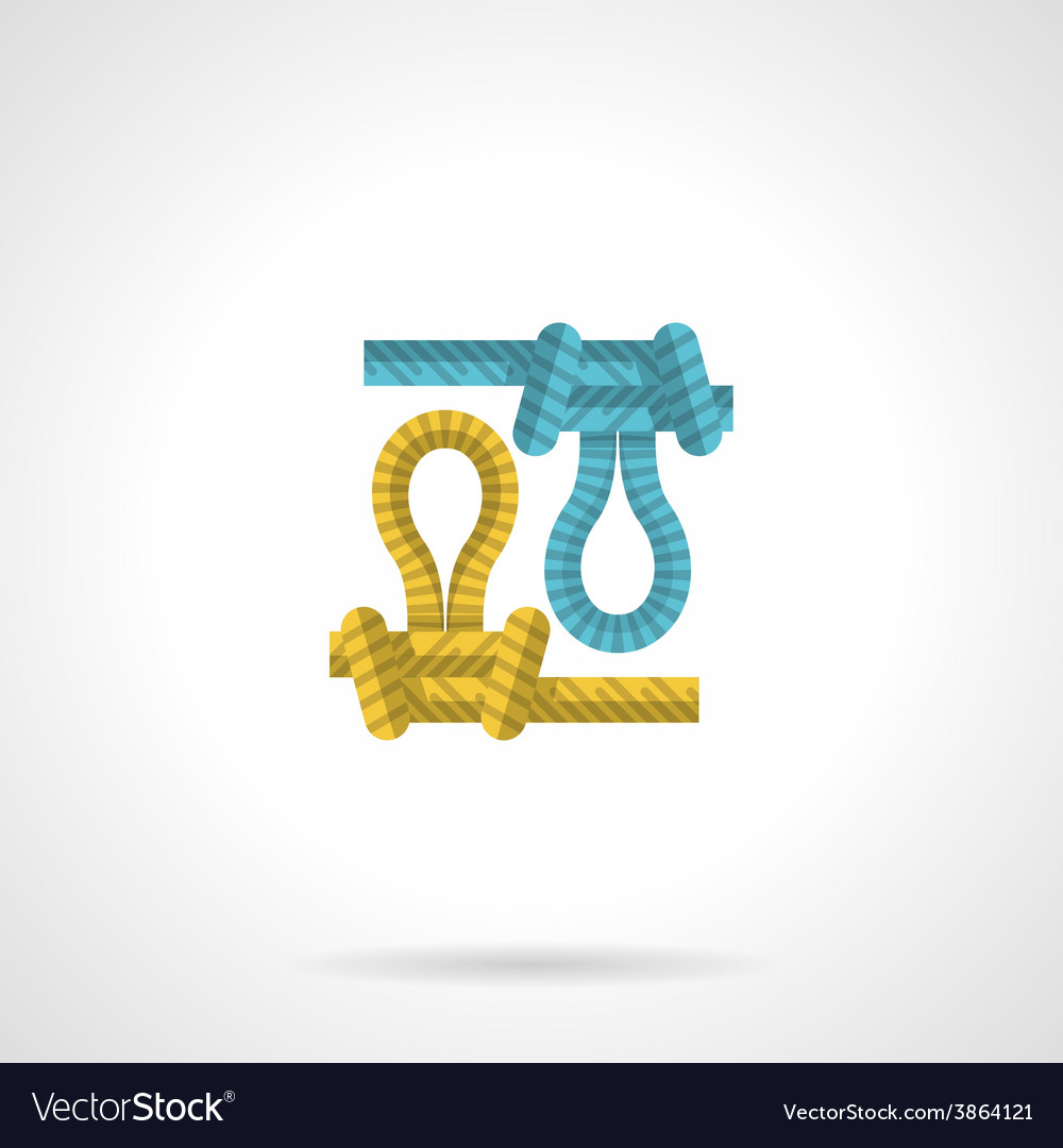 Flat icon for colored rope knot vector