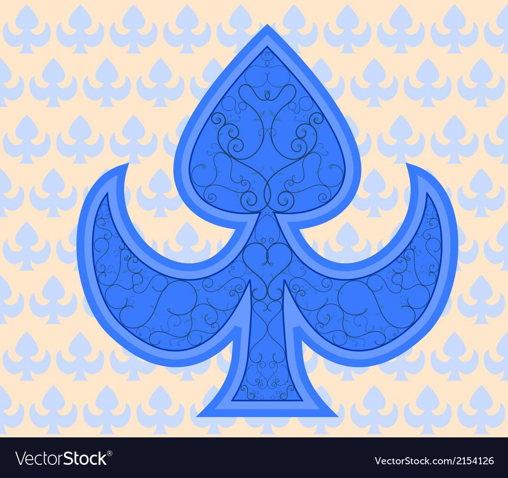 Blue royal ace background texture vector