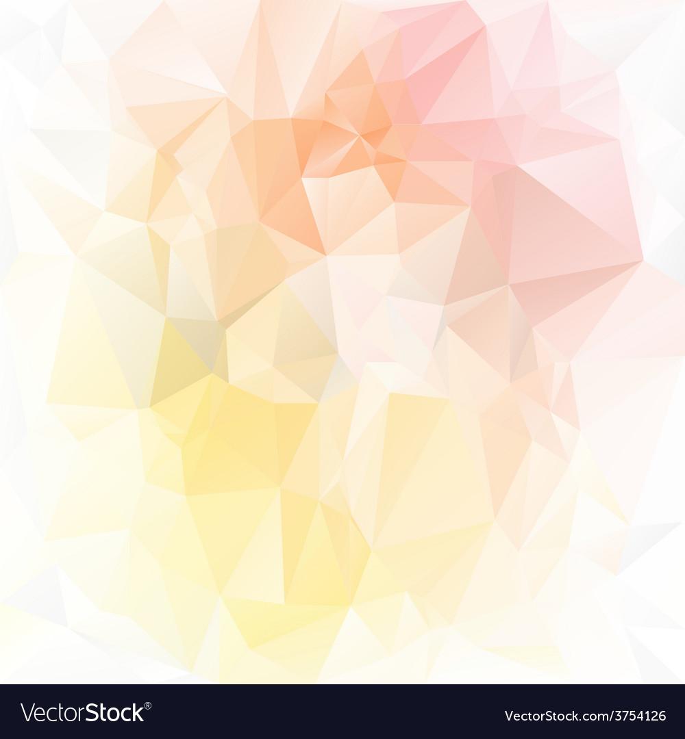 Pastel yellow orange polygonal triangular pattern vector