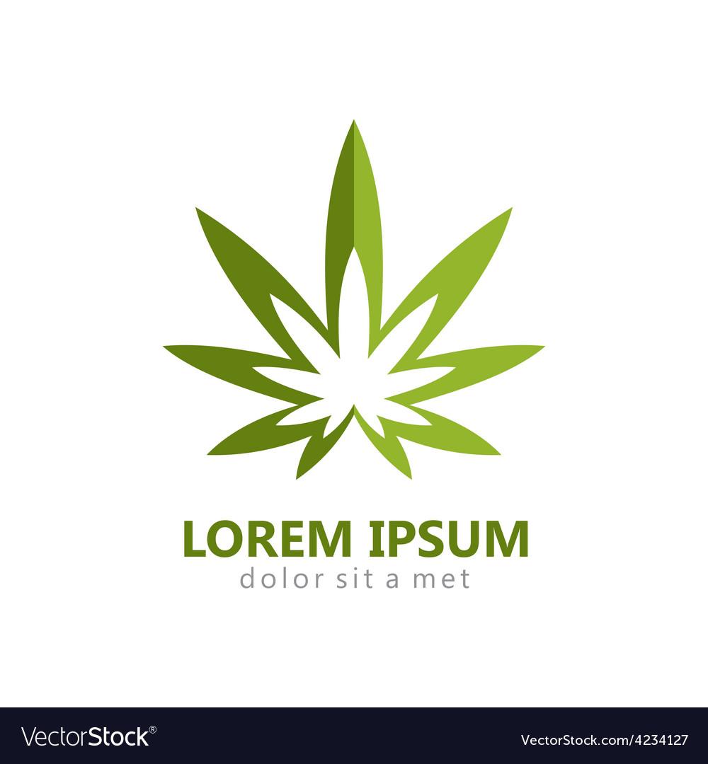 Marijuana leaf abstract logo vector