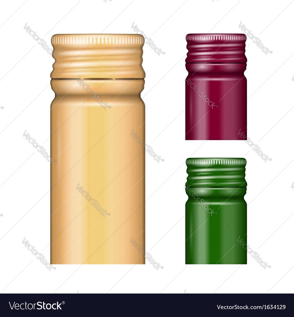 Screw bottle caps vector