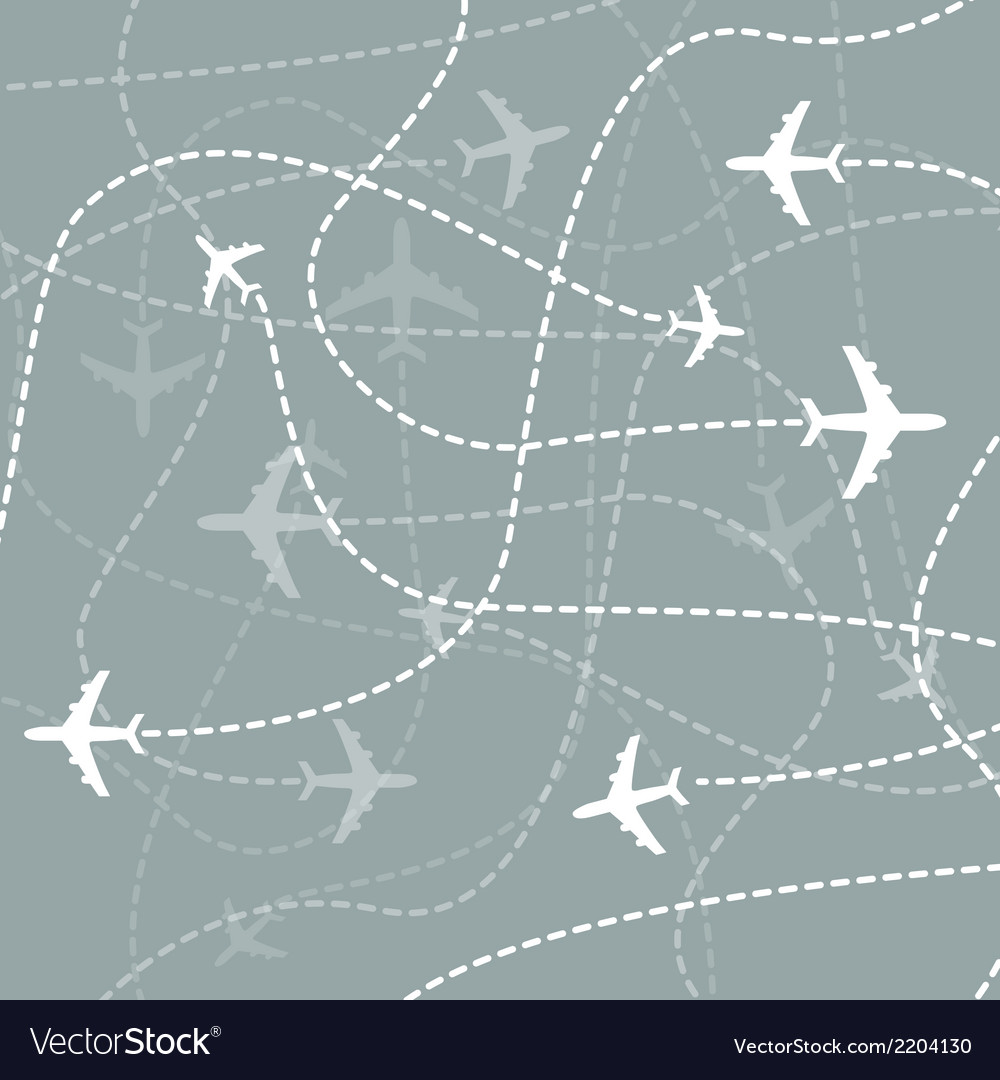 Airplanes traces vector