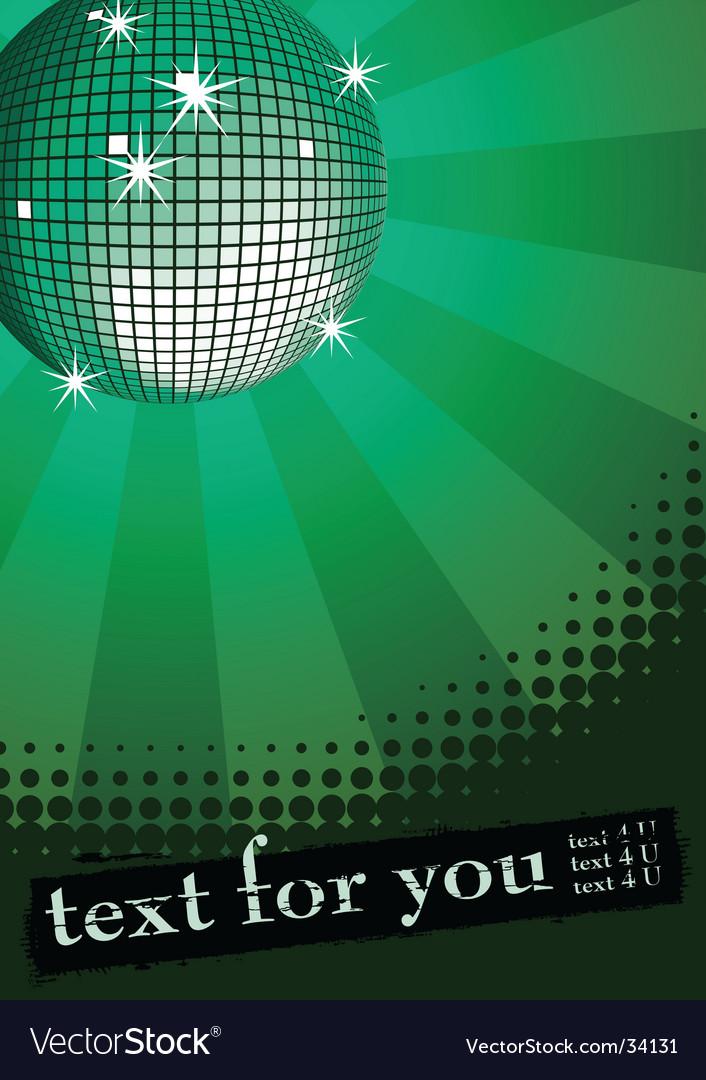 Disco ball banner vector