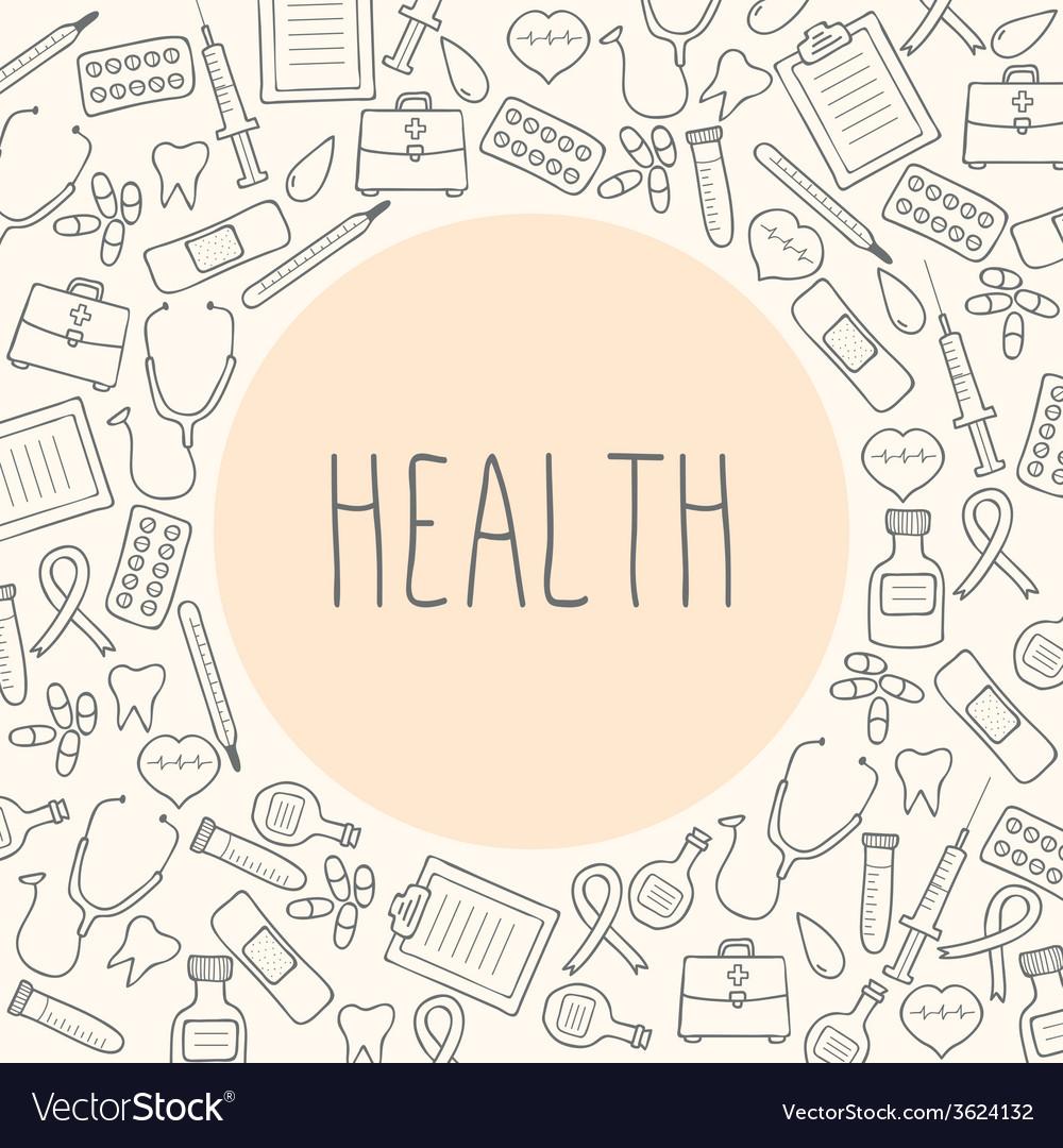 Medical background health vector