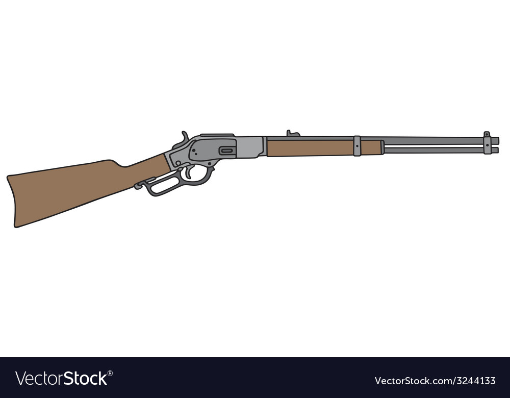 Old american rifle vector