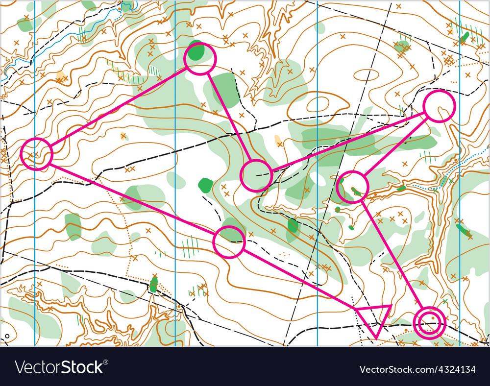 Topographic map vector