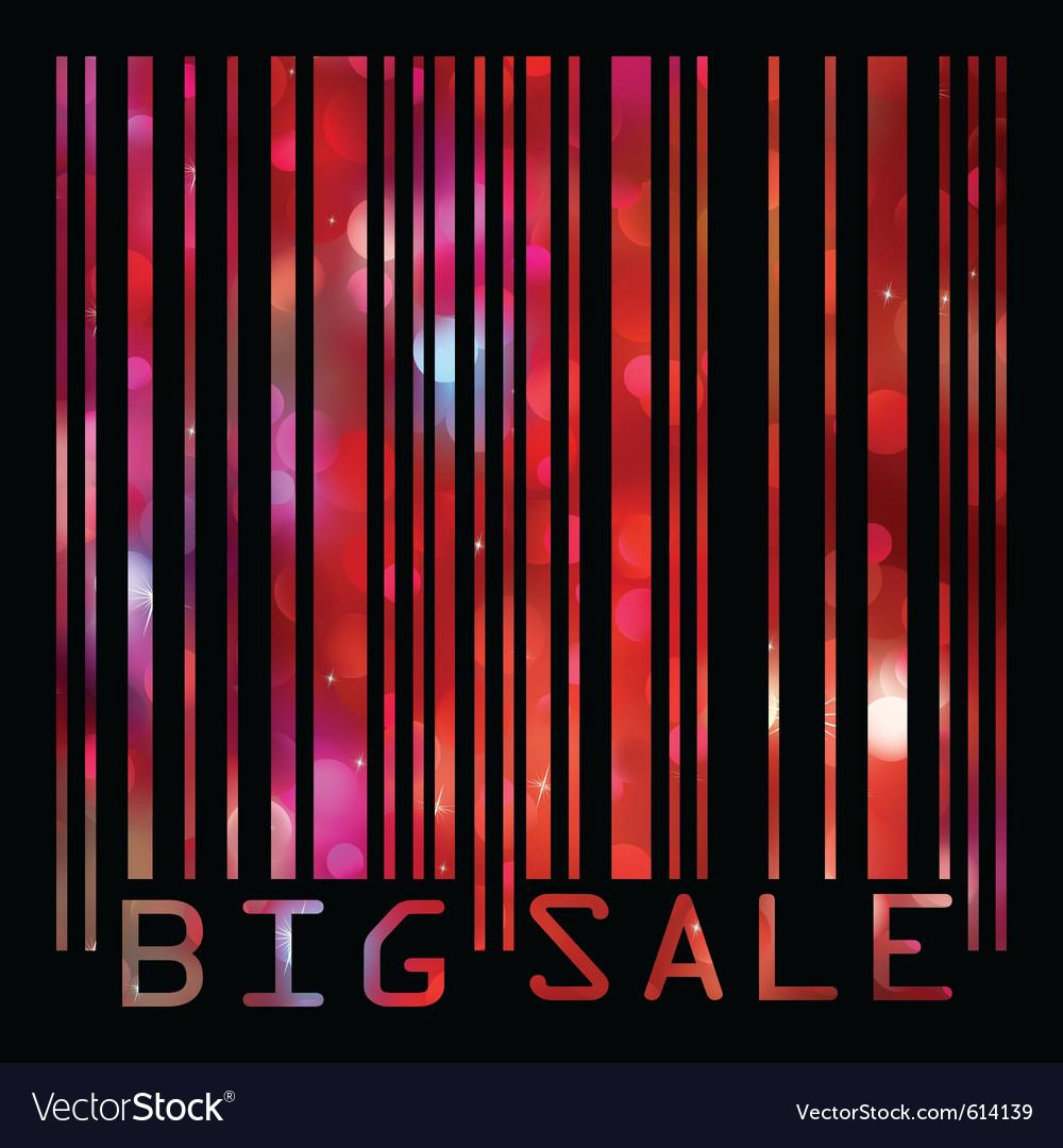 Big sale bar codes vector
