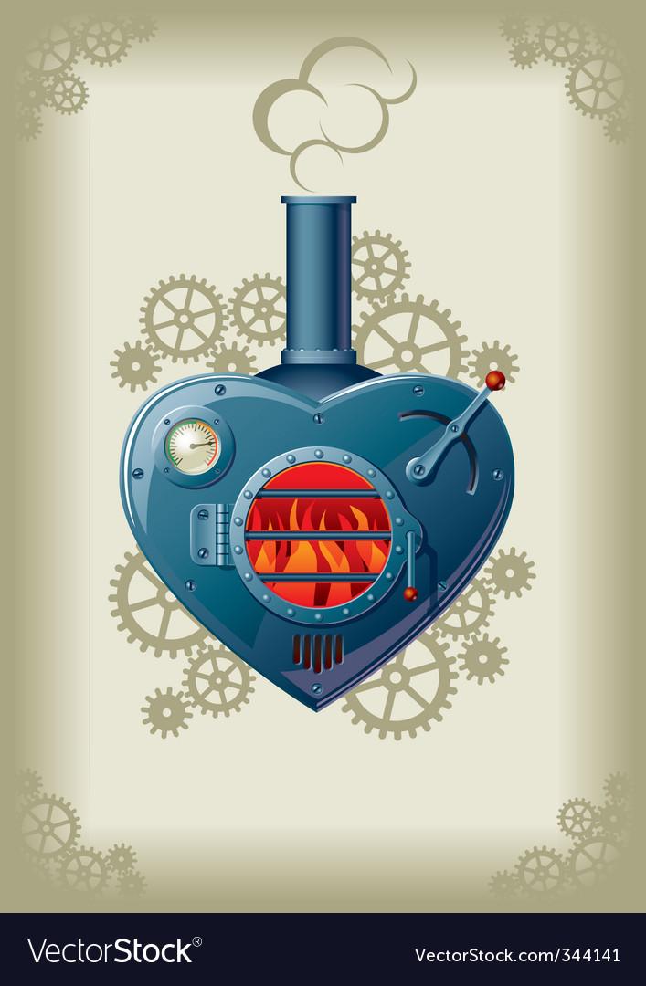 Steam valentine vector