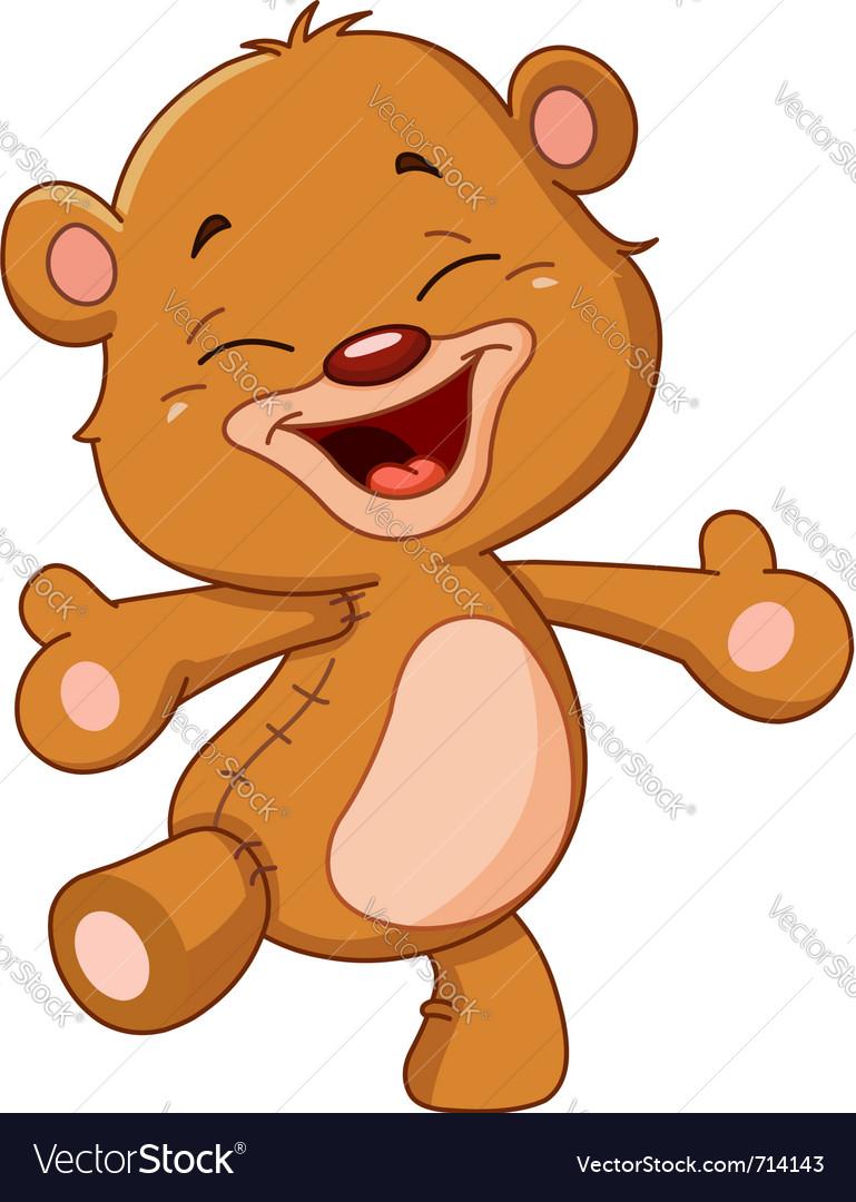 Cheerful teddy bear vector