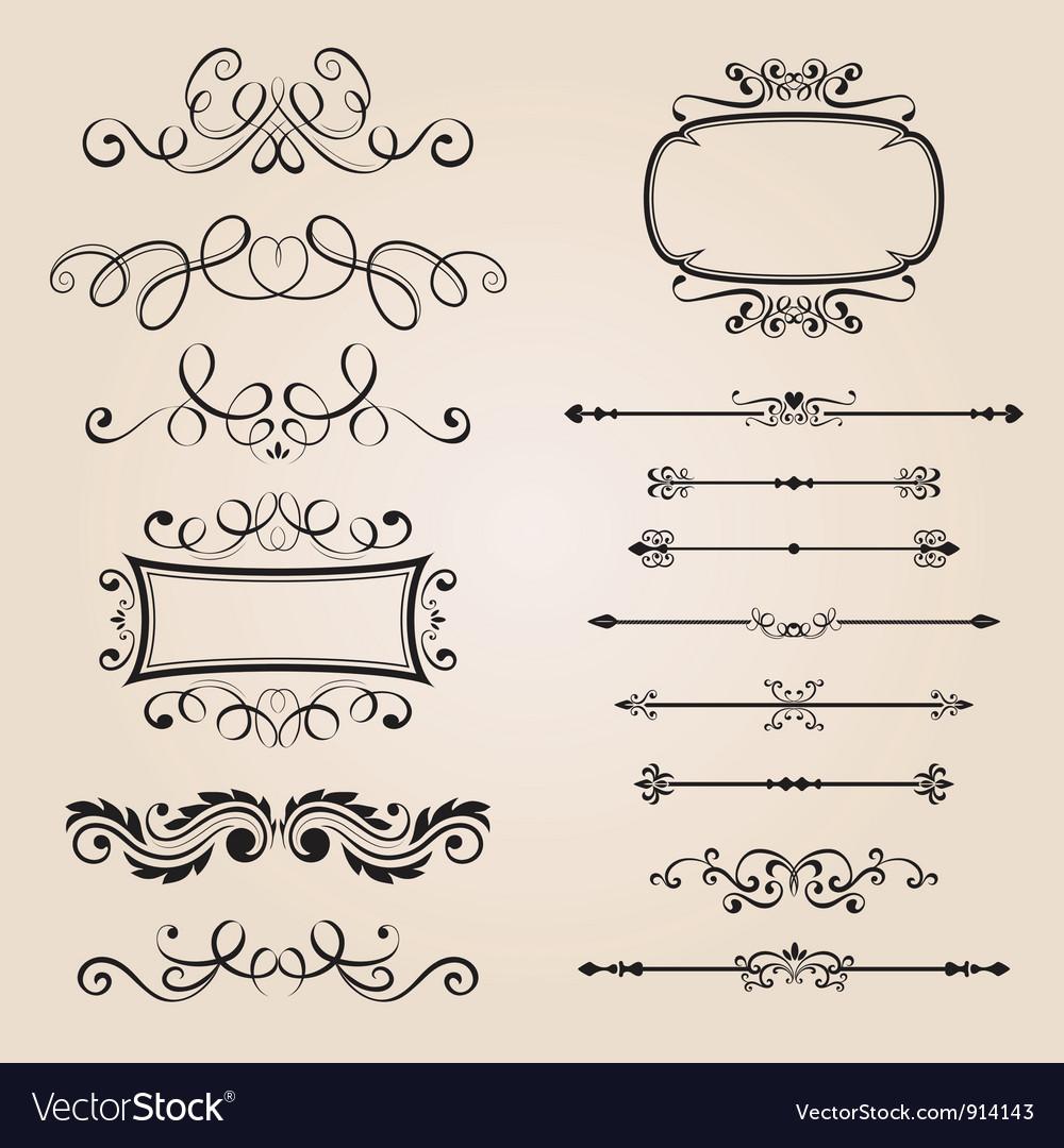 Classic border ornament vector