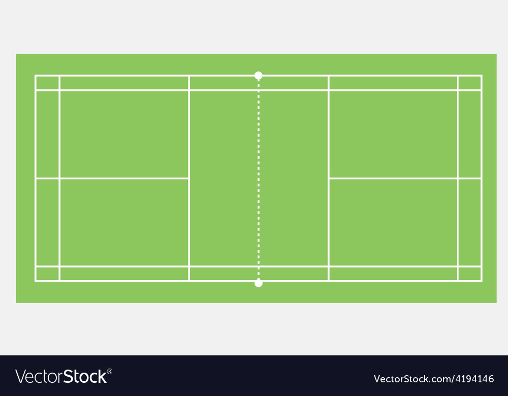 Badminton court vector
