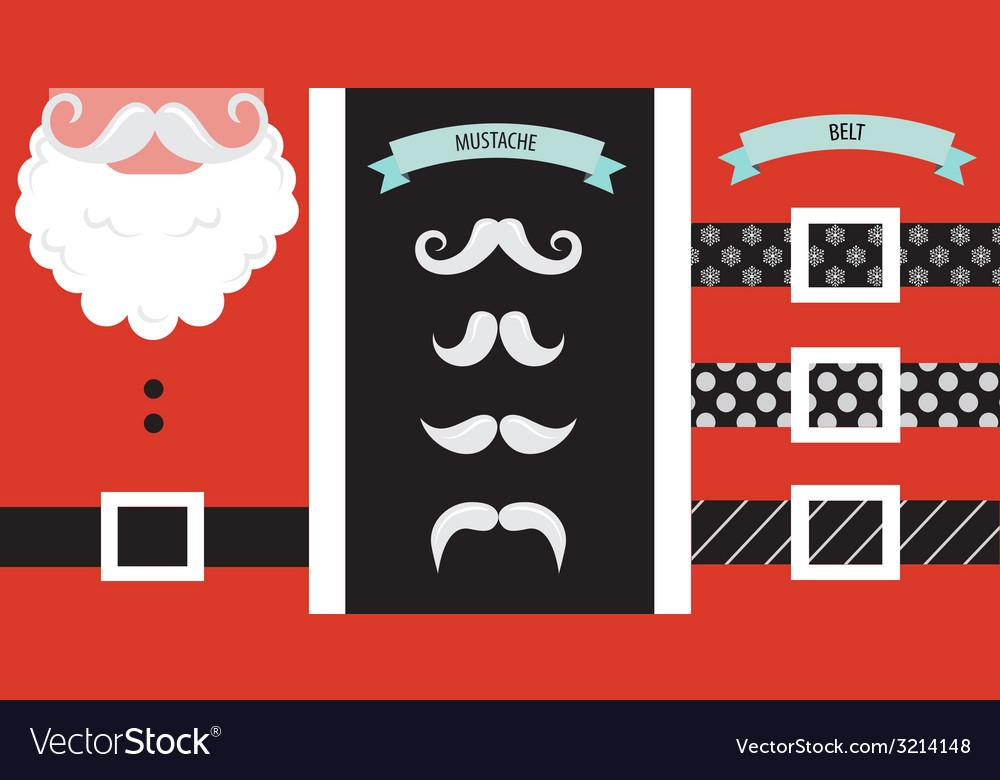 Create your own hipster santa christmas card vector