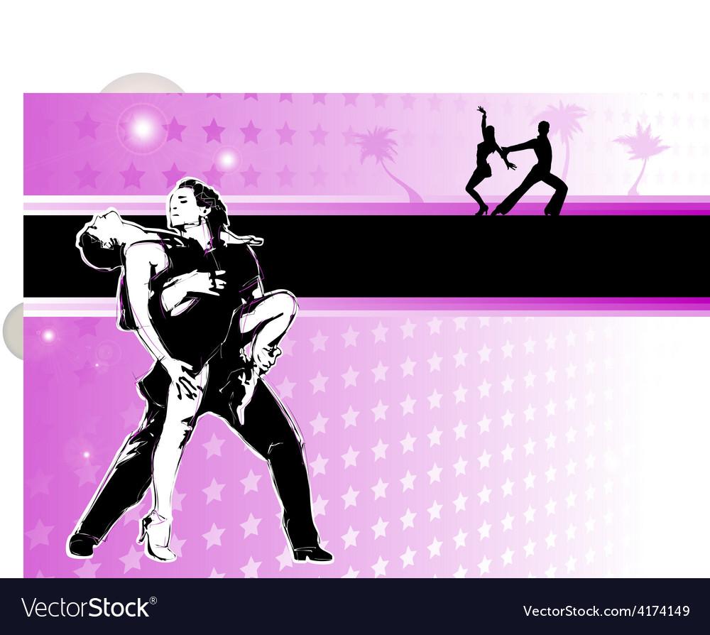 Latino dance poster vector