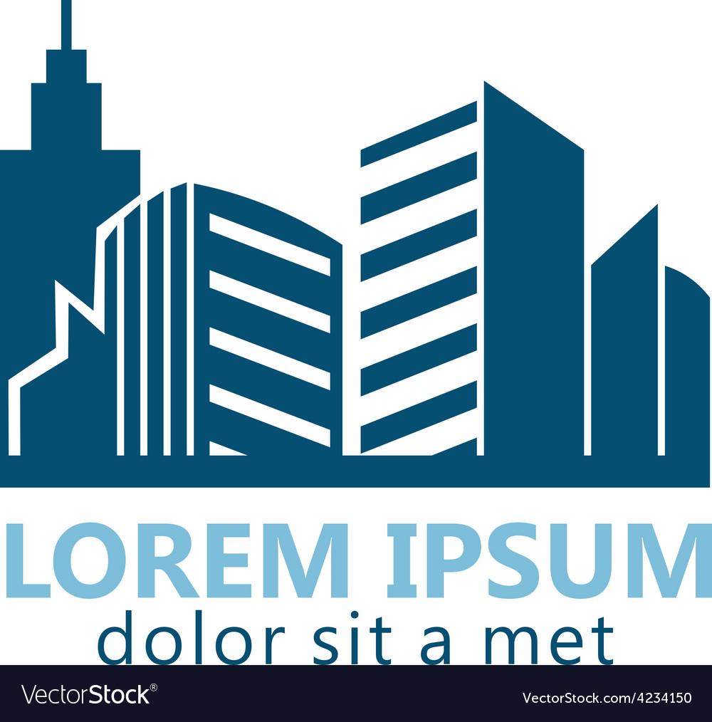 Modern building city logo vector