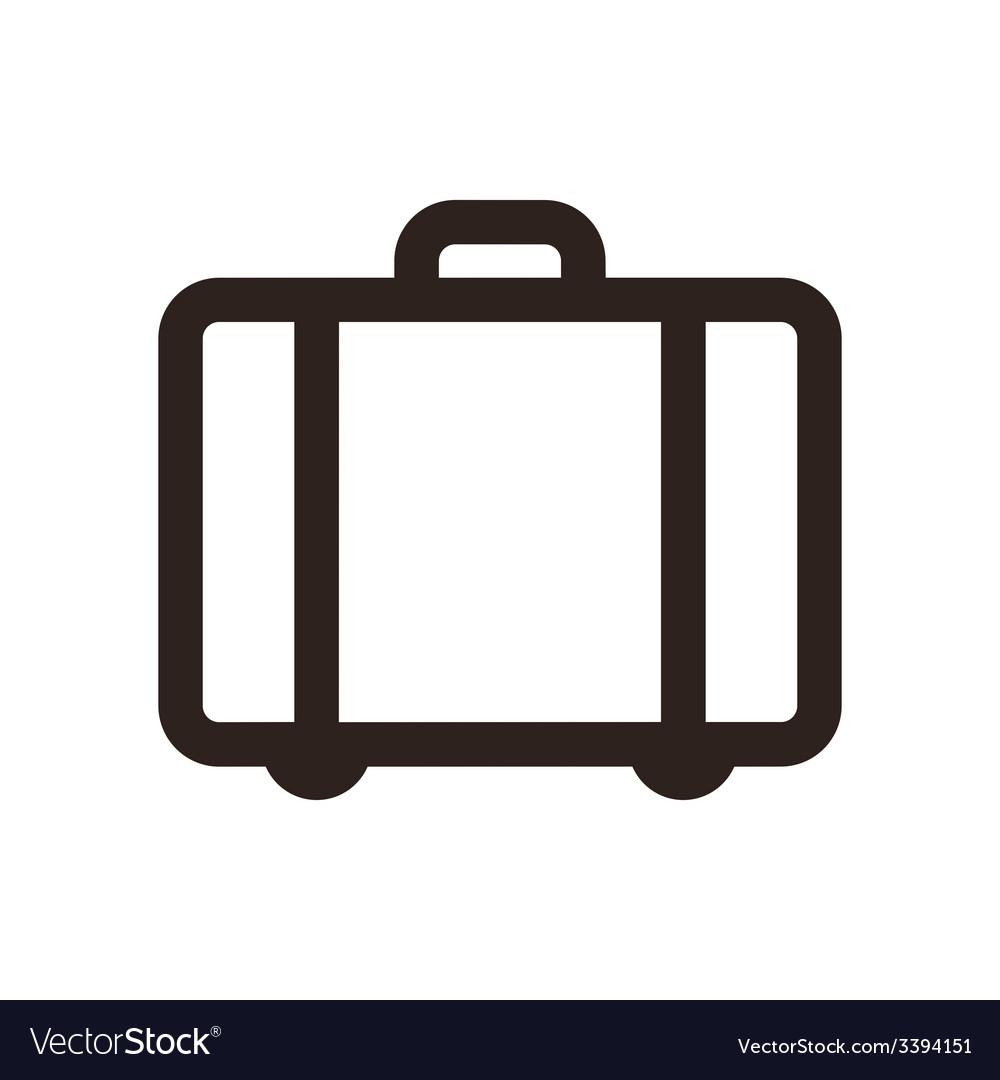 Suitcase - travel icon vector