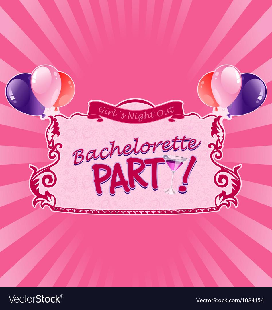 Sticker for bachelorette party vector