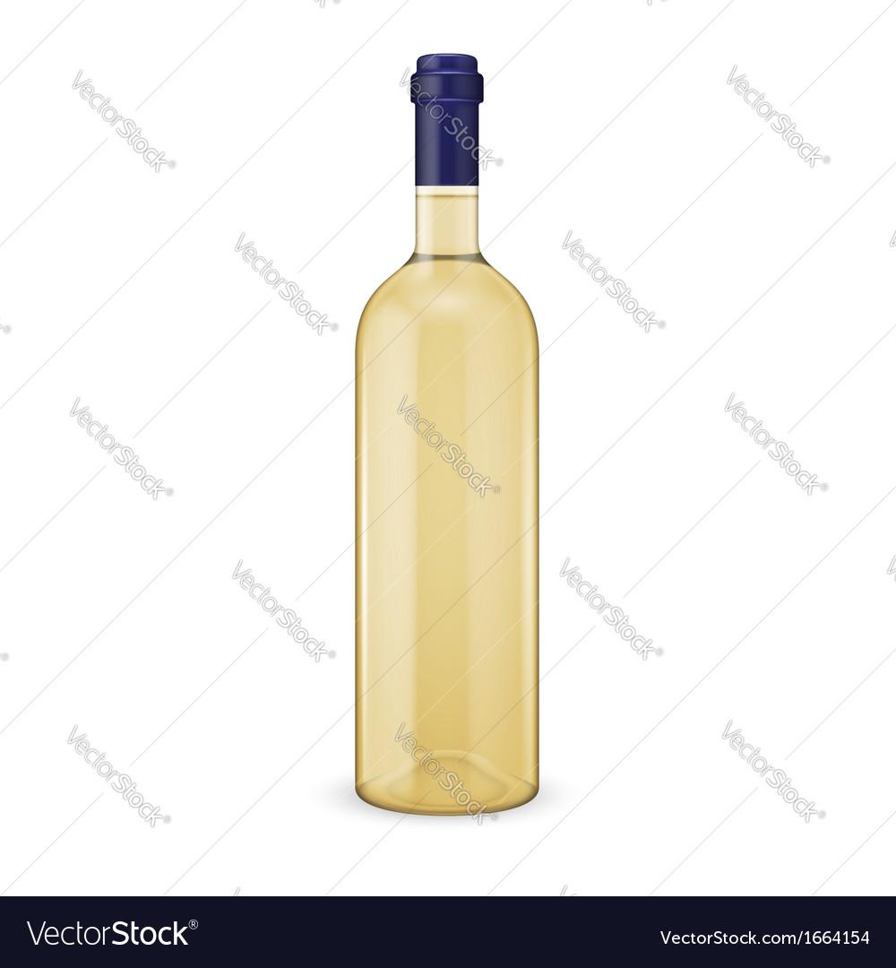 White wine bottle vector